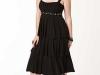Черное платье из трикотажа для полных