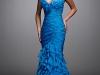Синее платье-русалка