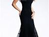 Черное платье-русалка