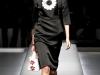 Весеннее платье-футляр черно-белое, коллекция Prada 2013