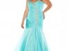 Голубое платье на выпускной 2013 для полных