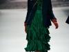 Зеленое платье с воланами от Milly