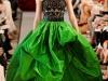 Свадебное платье черно-зеленого цвета от Oscar de la Renta