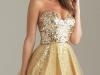 Короткое пышное платье золотое