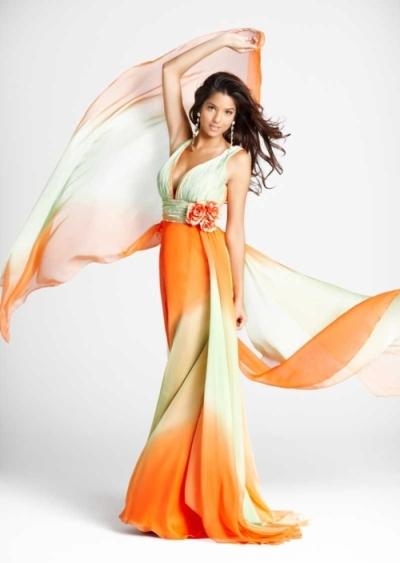 Фасоны шифоновых платьев