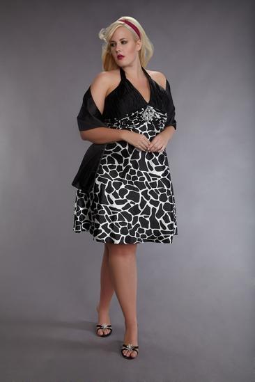 Коктейльное платье для полных - декор