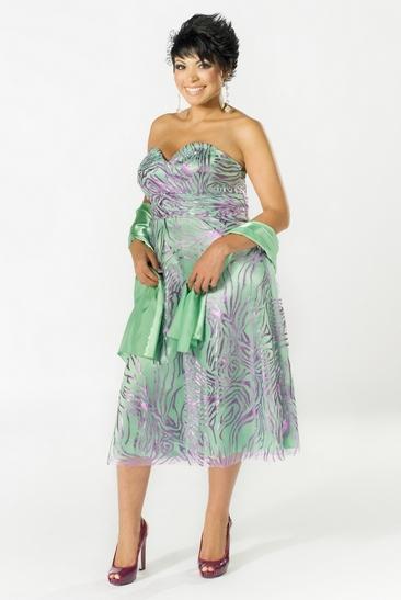 Коктейльное платье-бюстье