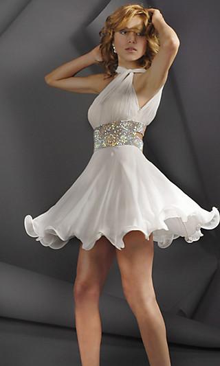 Короткие белые платья фото
