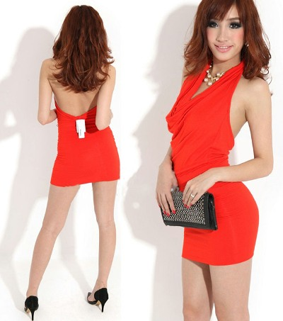 Платья с открытой спиной короткие