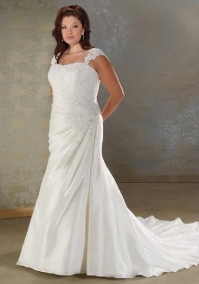 Длинные свадебные платья для полных фото