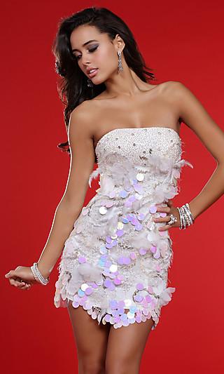 Короткое белое платье фото