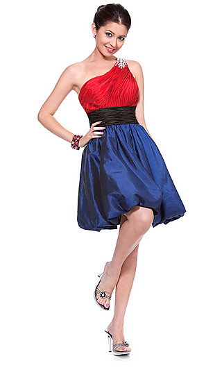 Платье коктейльное на одно плечо