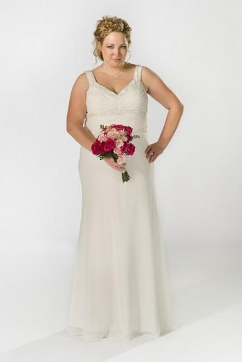 Белое платье для полных