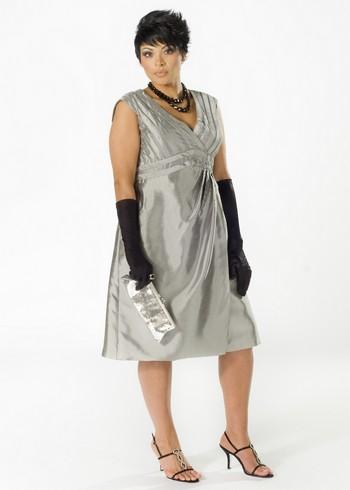 Коктейльное платье 2011 для полных
