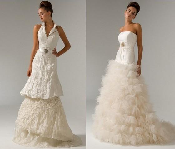 Свадебные бежевые платья