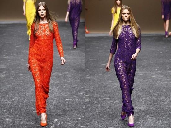 Длинные кружевные платья Blumarine 2011