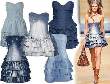 Платье-корсет джинсовое