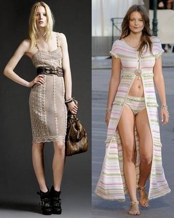 Вязанные платья 2011 - Burberry Prorsum и Chanel
