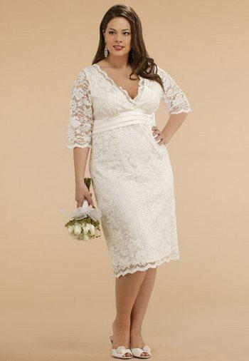 Свадебное платье-футляр для полных