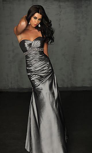 Платье годе темно серого цвета