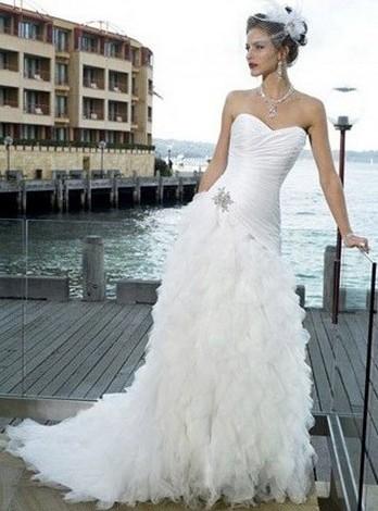 Свадьба на пляже - наряд невесты