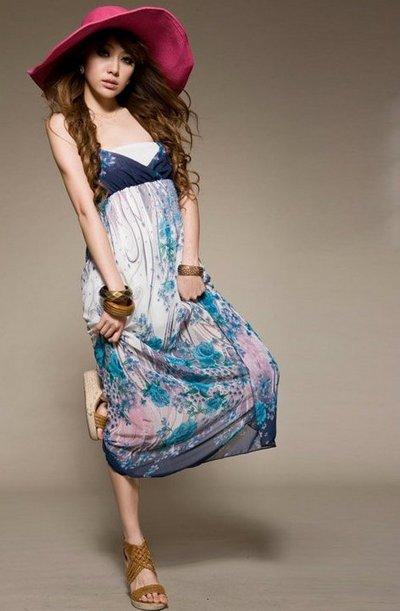 Длинное пляжное платье фото
