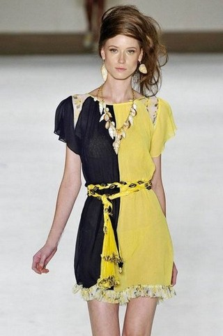 Модные платья 2011 из шелка и шифона