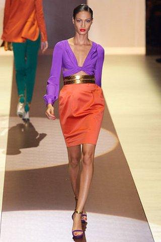 Модные шелковые платья 2011