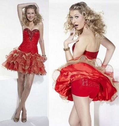 Выпускные платья короткие с корсетом