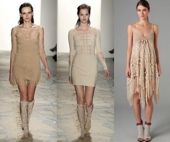 Короткие вязаные платья 2011 Jen Kao