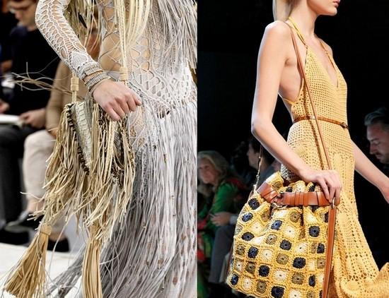 Вязанные летние платья 2011