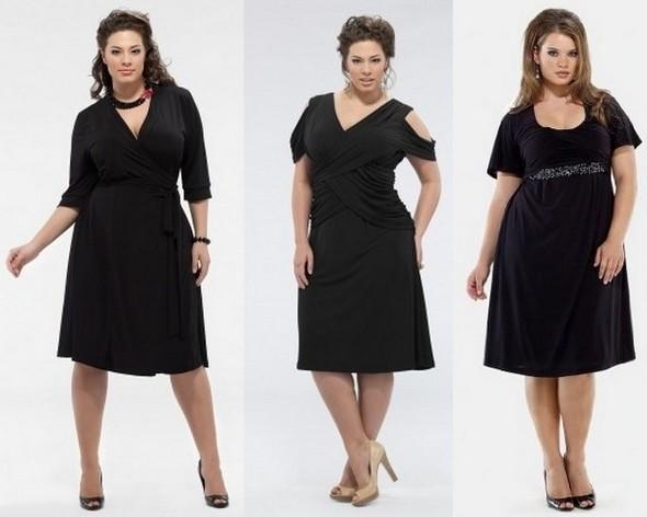 Черные платья для полных