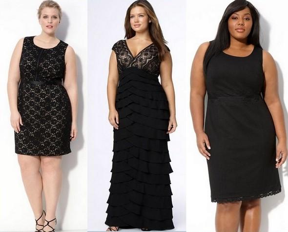 Черные платья для полных женщин