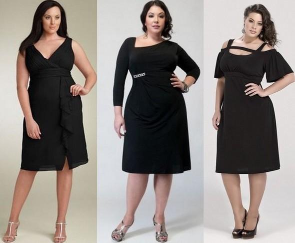 Платья осень 2011 для полных