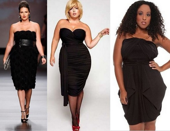 Маленькое черное платье для полных