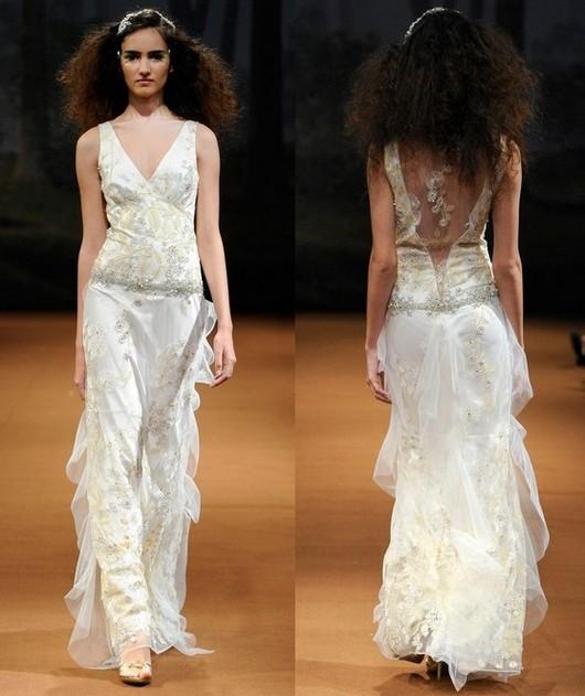 Платья Claire Pettibone цвета айвори