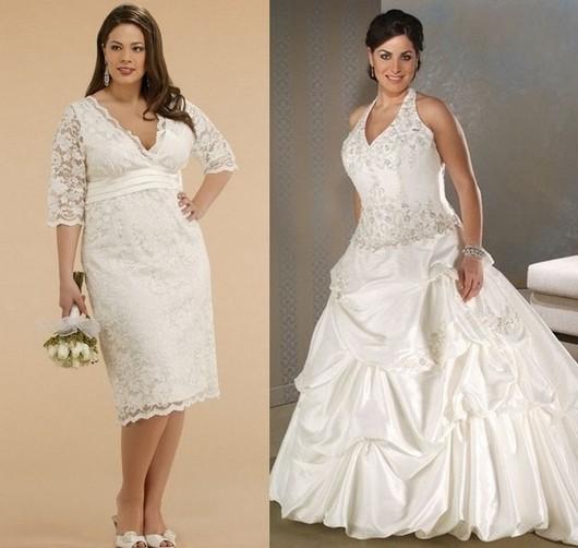 Свадебные платья для полных цвета айвори