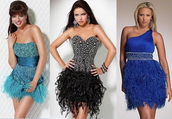 Клубные платья с пышной юбкой
