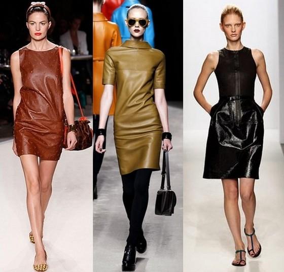 Кожаные платья Осень-Зима 2011-2012