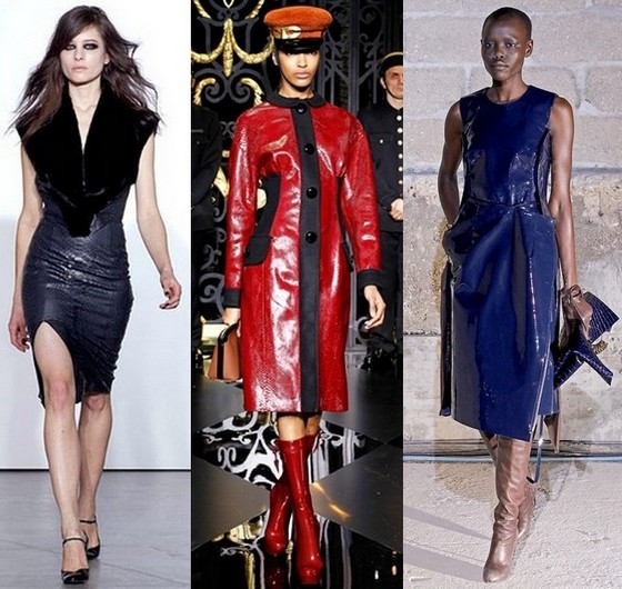 Кожаные платья фото