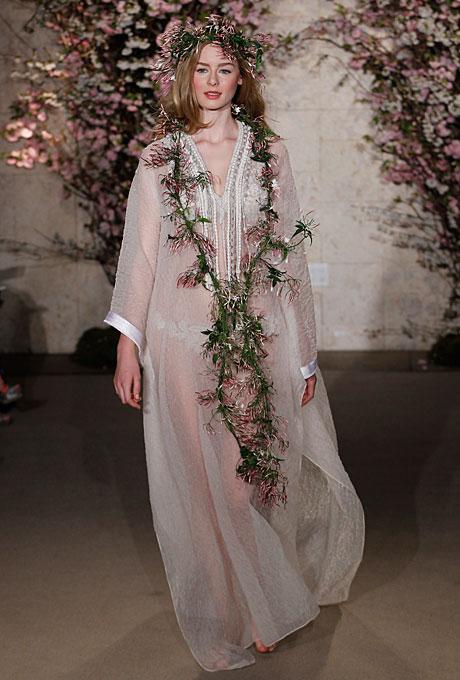 Свадебное платье Oscar de la Renta из органзы