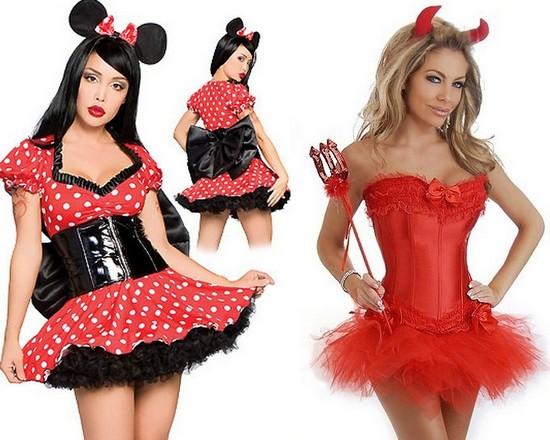 Очень короткие платья на Хэллоуин