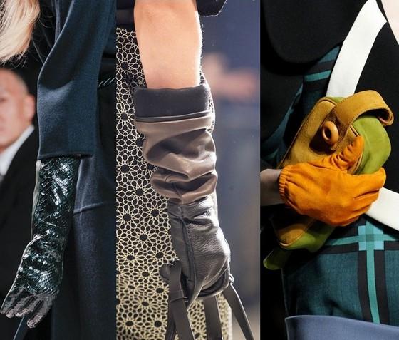 Модные аксессуары осень 2011 - перчатки
