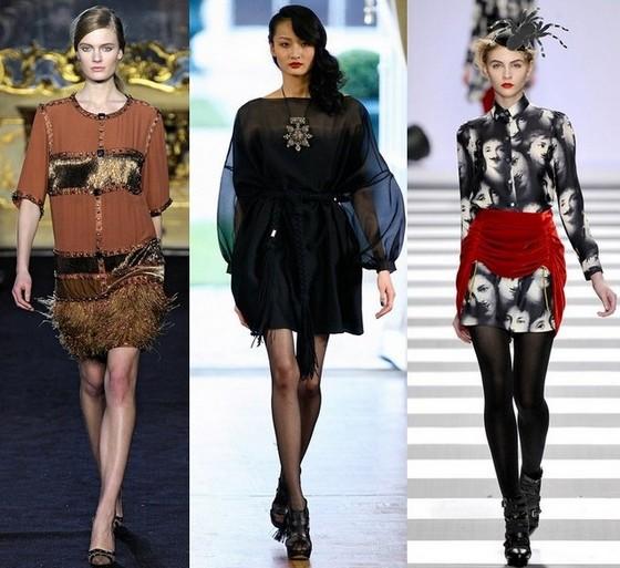 Модные платья 2011 осень