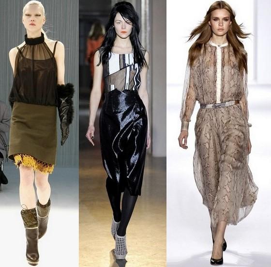 Платья на осень 2011