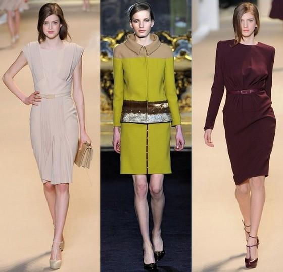Модные платья осень 2011