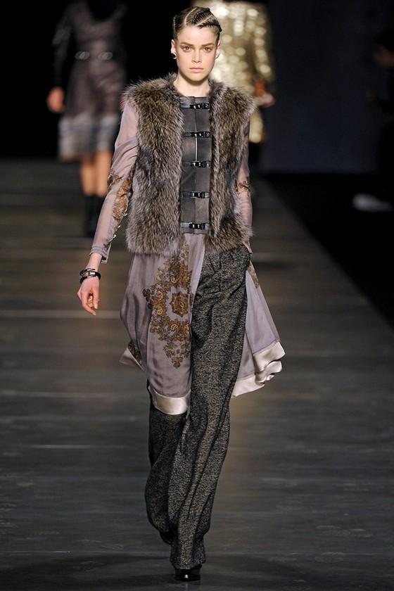 Шифоновое платье 2011 2012 с брюками Этро
