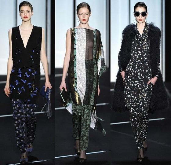 Платья с брюками из коллекции Diane von Furstenberg осень-зима 2011-2012