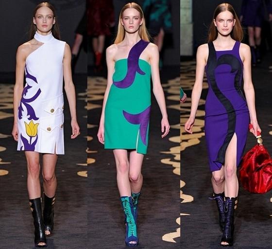 Платья от Версаче Осень-Зима 2011-2012
