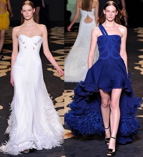Вечерние платья Версаче 2011